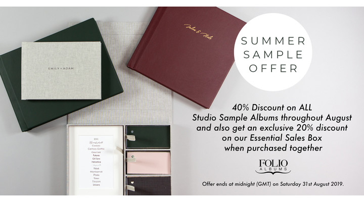 40% Off Studio Sample Photo Albums with Folio Albums and SmartAlbums 2019