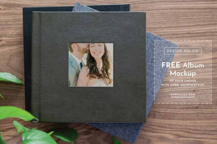 Free Album Mock Up of Your Choice with SmartAlbums 2019 and Design Aglow